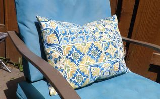 velcro to the rescue no more outdoor cushions blowing away , how to, outdoor furniture, reupholster