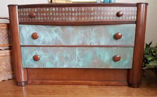 rust paint for a funky new look, painted furniture