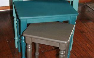nesting trio, painted furniture