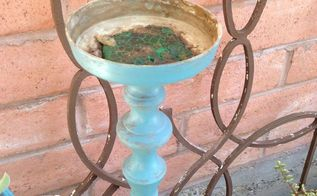 how to turn an old candlestick holder into plant stand, gardening, how to