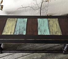 black seaside coffee table, painted furniture