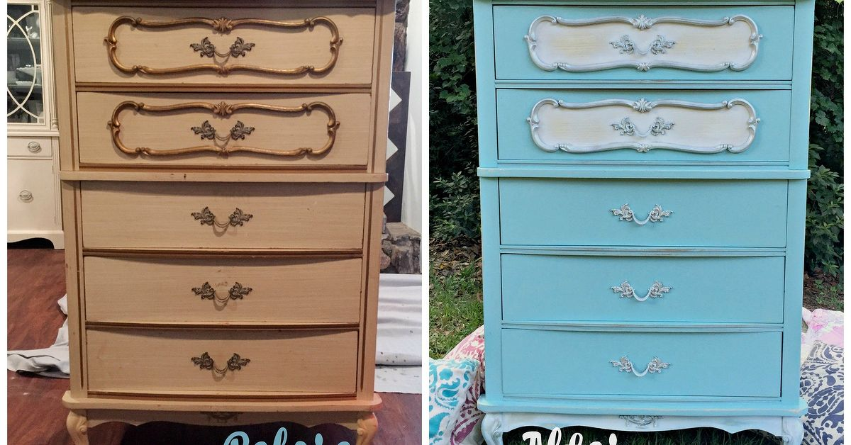 French Provincial Dresser Makeover Before And After Hometalk
