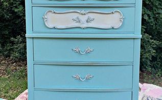 french provincial dresser makeover before and after, chalk paint, painted furniture, shabby chic