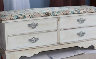 cedar chest blah to cedar chest beautiful, painted furniture, reupholster