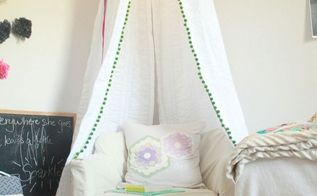 diy canopy, bedroom ideas, repurposing upcycling
