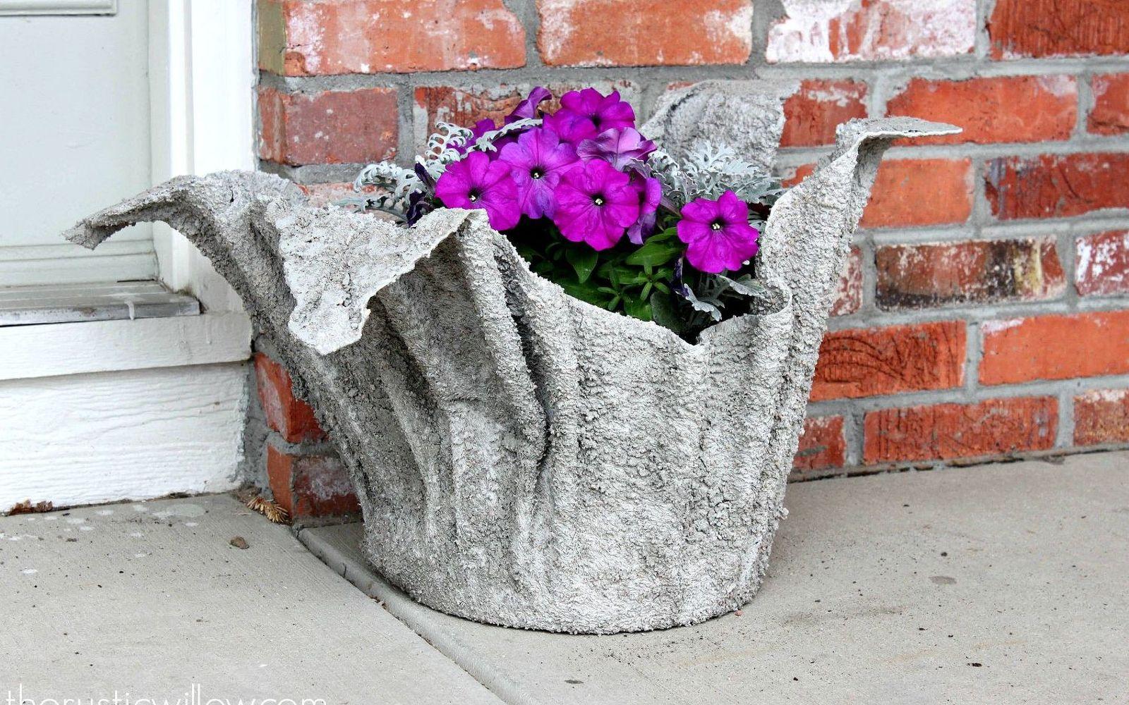 Вазоны из бетона как сделать