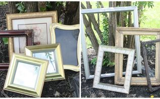 random thrifted frames turned beautiful gallery wall, repurposing upcycling, wall decor