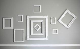 random thrifted frames turned beautiful gallery wall, repurposing upcycling, wall decor