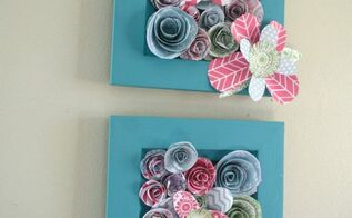 how to make simple 3 d flower wall art, crafts, how to, wall decor