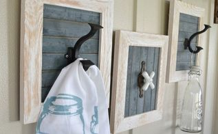 diy farmhouse bathroom hooks, bathroom ideas, wall decor