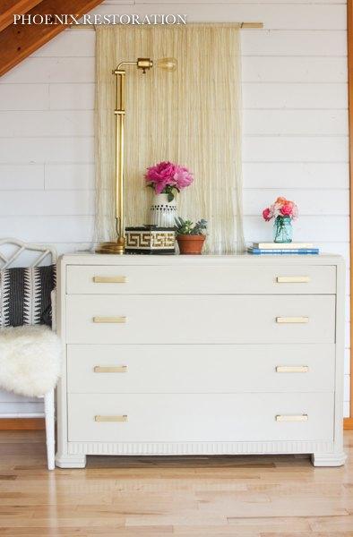 Art Deco Dresser In Taupe Walnut Gold Hometalk