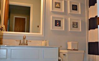 nautical bathroom makeover, bathroom ideas, small bathroom ideas
