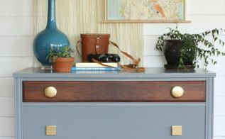 eclectic gray walnut gold dresser, painted furniture, woodworking projects