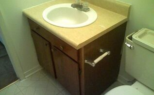 q what color for old bathroom vanity , bathroom ideas, paint colors, painted furniture