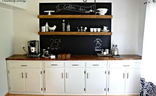 how i made my dream coffee bar, kitchen design, shelving ideas
