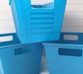 dollar store bins get a storage ideas - Metal Storage Containers
