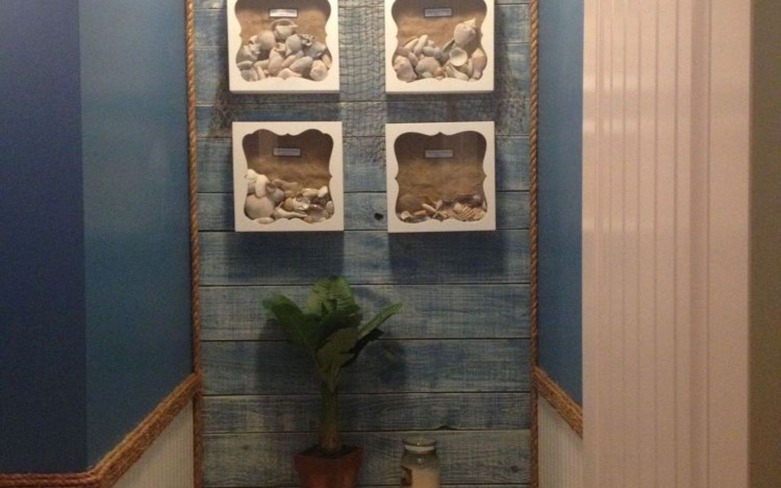 s 11 actually helpful tricks for decorating a small bathroom, bathroom ideas, Panel just one wall to create a focal point