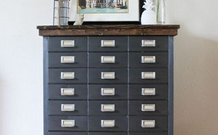 farmhouse style filing cabinet makeover, painted furniture