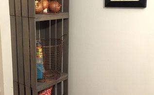 crate storage unit, organizing, repurpose household items, repurposing upcycling, storage ideas