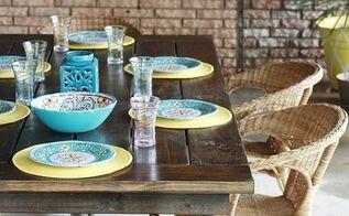 diy farmhouse table backyardready, painted furniture, rustic furniture