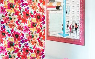 diy peg board, craft rooms, diy, home office, organizing