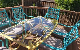 drab to fab , outdoor furniture, painted furniture