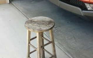 q nice find, painted furniture, painting wood furniture, repurpose furniture, repurposing upcycling, Mini stool