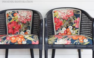 vintage cane chair upholstery tutorial, how to, painted furniture, reupholster