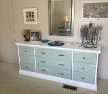 ugly dresser redone scroll work gone , painted furniture
