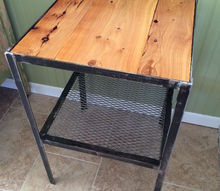 vintage wood and metal side table a story, diy, painted furniture, woodworking projects