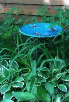satellite dish to bird bath, gardening, outdoor living, pets animals, repurposing upcycling, Dish to Bird Bath