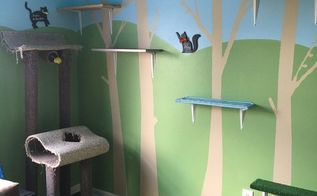 pampered kitty tree room, bedroom ideas, pets, pets animals