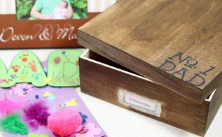 diy father s day memory box gift, crafts, how to, seasonal holiday decor