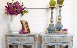 transforming french nightstands with paint and mouldings, painted furniture, repurposing upcycling