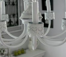 diy chandelier makeover, dining room ideas, diy, lighting