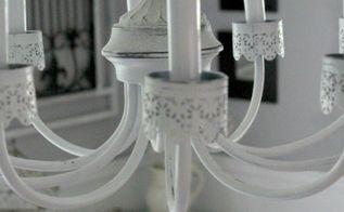diy chandelier makeover, dining room ideas, diy, lighting