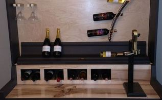 upright piano to wine rack, organizing, repurposing upcycling, storage ideas