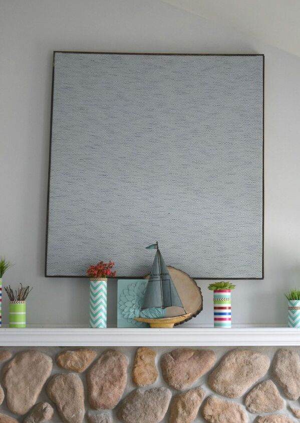 Wall Decoration Making : Making large wall art using a curtain panel hometalk