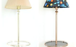 floor lamp makeover, flooring, lighting