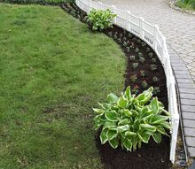 curb appeal idea a little white fence, curb appeal, fences, gardening, landscape, outdoor living