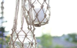 jute string lanterns, crafts, how to, mason jars