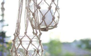 jute string lanterns, crafts, how to, mason jars