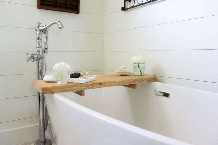 How to make your own diy bathtub tray hometalk for Build your own bathroom