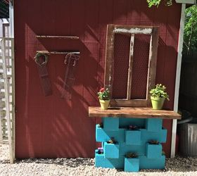 Outdoor Cinderblock Wet Bar Gardening Station, Gardening, Outdoor Living ...