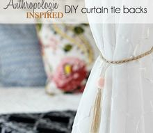 anthropologie inspired curtain tie backs, crafts, home decor, how to, window treatments