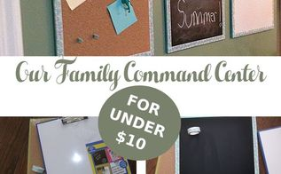 family command center less than 10 , crafts, diy, organizing