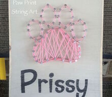 paw print string art a memorial, crafts
