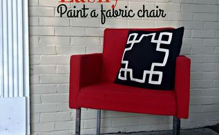 easily paint a fabric chair diy paint recipe, painted furniture, reupholster