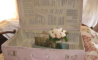 vintage shabby chic pink suitcase in ascp antoinette, chalk paint, painting, shabby chic