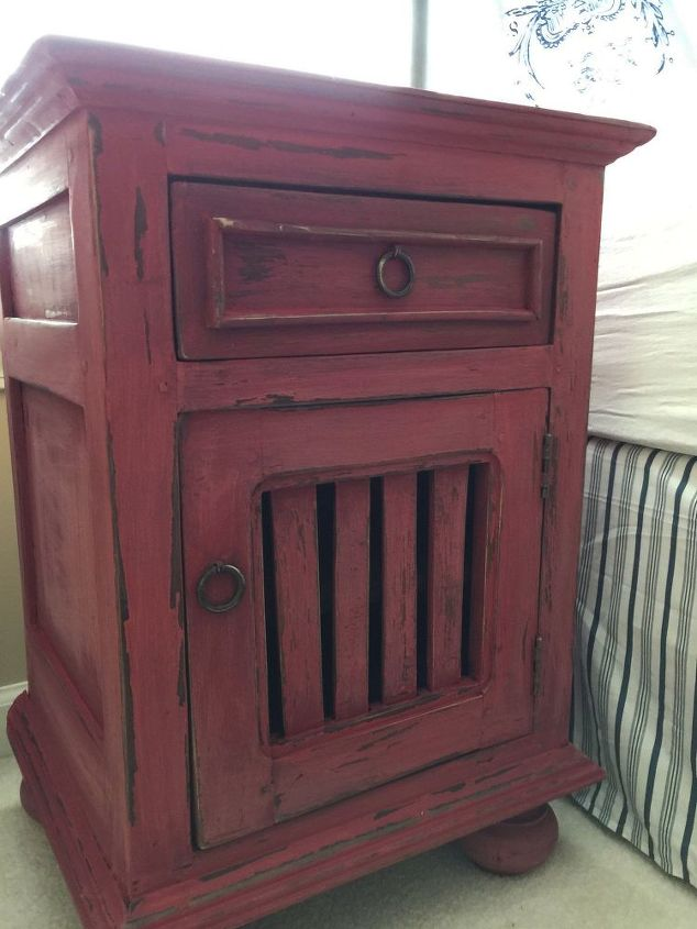 red is dead and white is right chalk paint painted furniture rustic